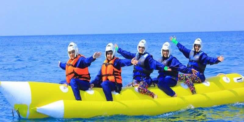 بنانا سواری، هیجان انگیز و کمی خطرناک- تفریحات آبی رامسر