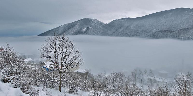 تغییرات هوای رامسر در زمستان