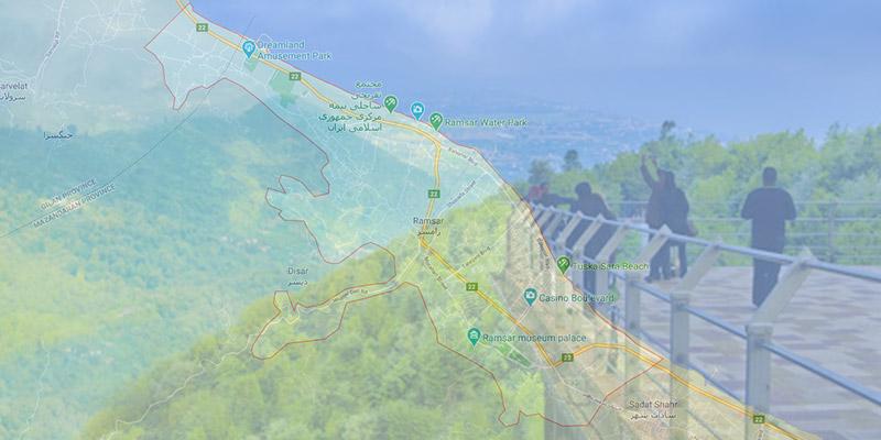 نقشه گردشگری رامسر-برای-مسافران-این-شهر
