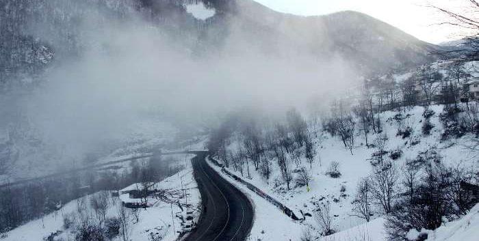 گردنه حیران در زمستان گردنه حیران جاهای دیدنی اردبیل