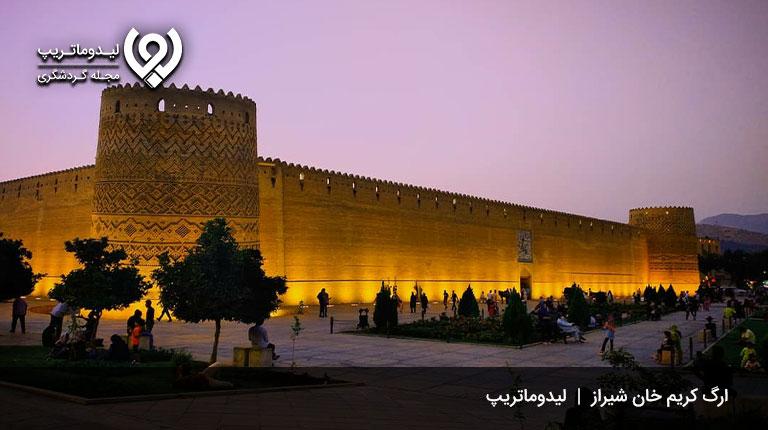 جاذبههای-تاریخی-شیراز-در-شب
