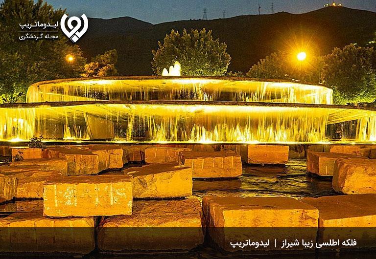 جاذبههای-طبیعی-شیراز-در-شب