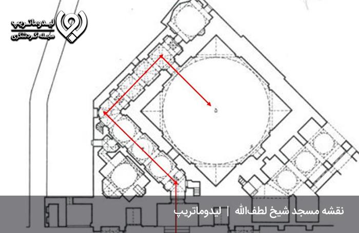 پلان-معماری-مسجد-شیخ-لطف-الله