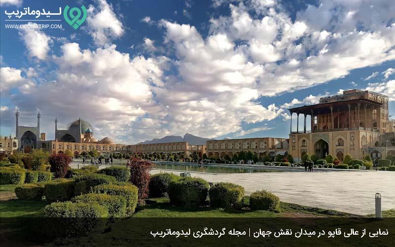 کاخ عالی قاپو از جاهای دیدنی اصفهان